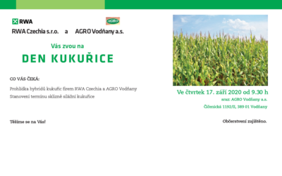 17. 9. 2020  Den kukuřice Vodňany